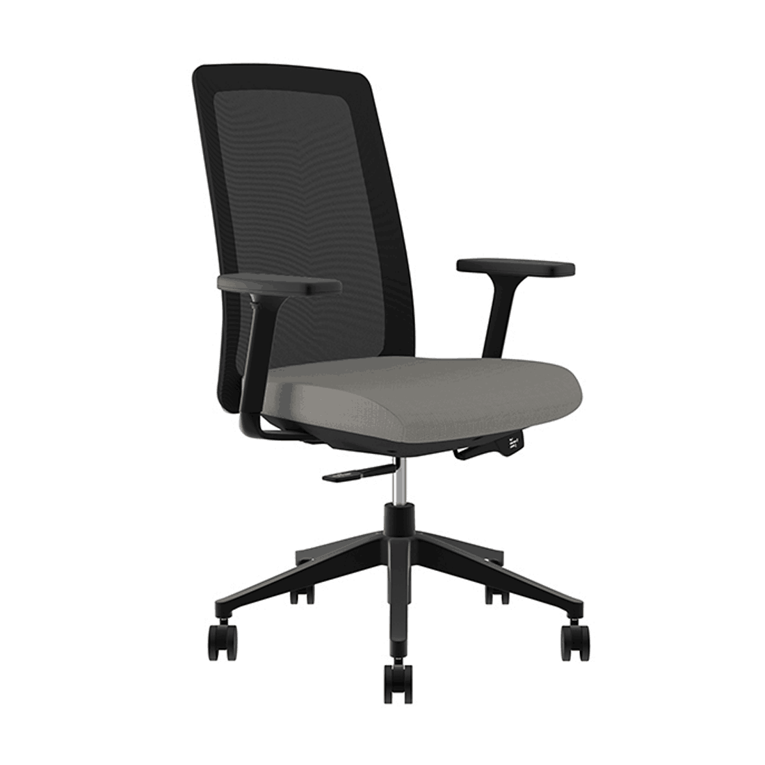 Compel Bravo Black Mesh Back Task Chair with Adjustable Arms and Waterfall Seat