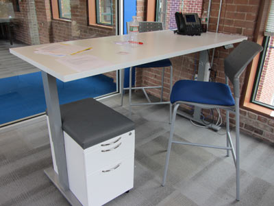 Height adjustable table, Waltham MA
