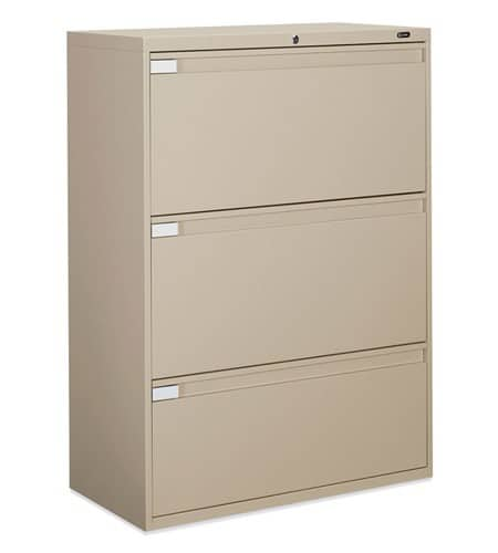 36″ Wide 3 Drawer Lateral File 36w x 18d x 40.5h office storage