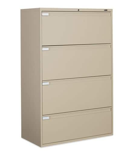 36″ Wide 4 Drawer Lateral File 36w x 18d x 54h office storage