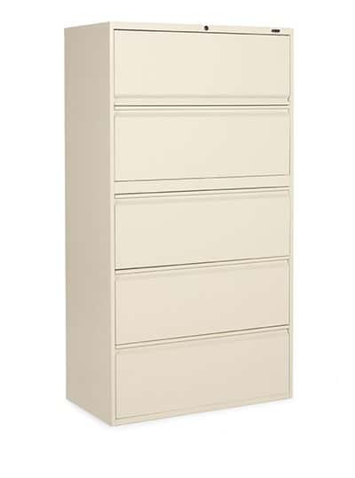 "36"" Wide 5 Drawer Lateral File, Office Storage"