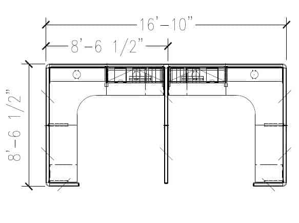 6'x6′ High.Low Cubicle 246