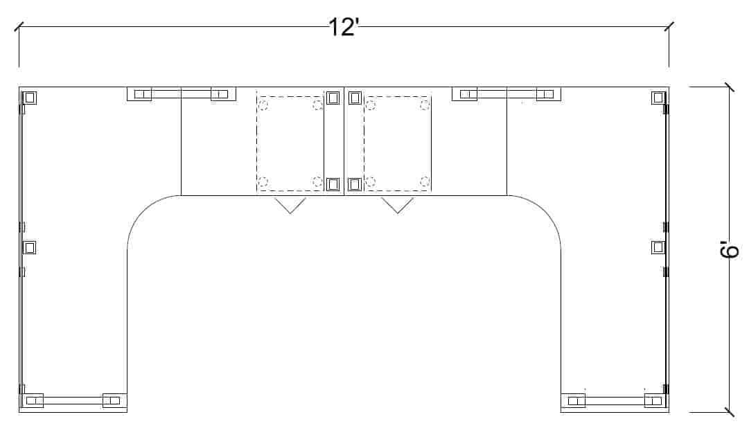 6x6OfftheWallOpenBenchingSystem