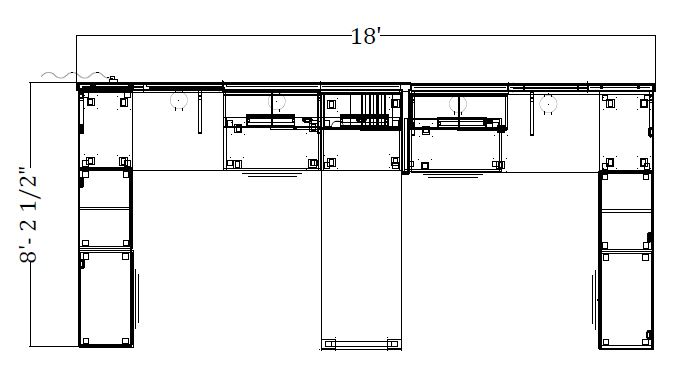 8.75'x 8′ Open Desking 227