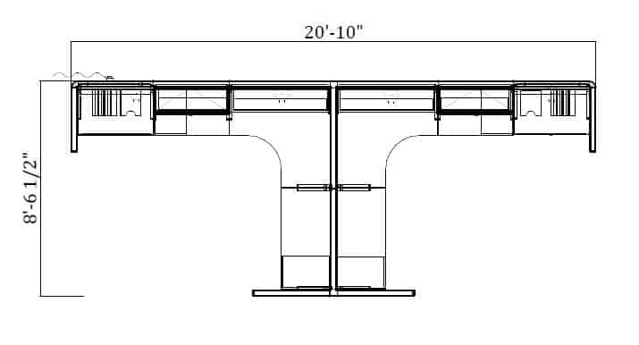 9'x7′ High.Low Cubicle 254