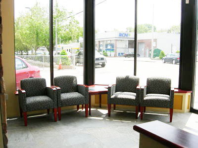 Lobby seating, Action Real Esetate