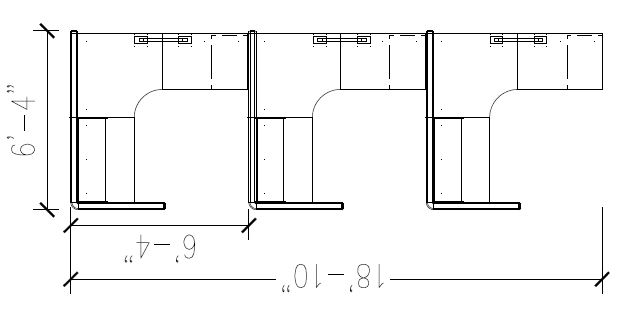 Off the Wall 6'x6′ Cubicles with 53 High Panels 207