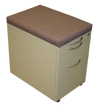 Box/File Mobile Pedestal with Cushion Top