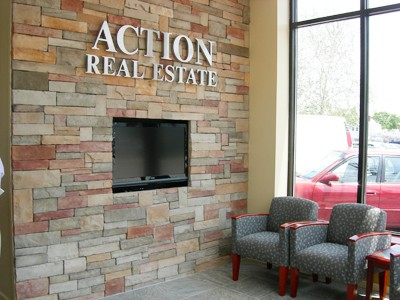Lobby office furniture, Action Real Estate