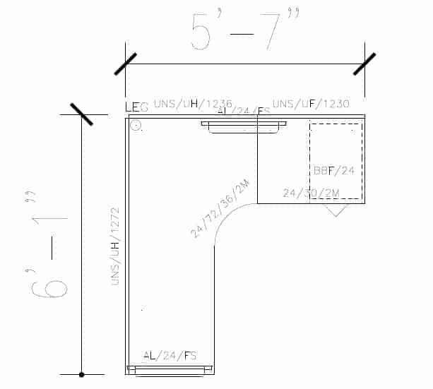 Simple 6'x5.5' Desk