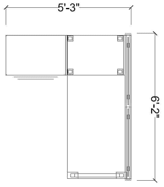 SinglePerson5x6Semi-PrivateBenchingUnit
