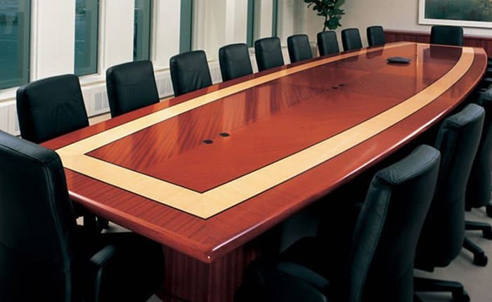 Arnold Boat-Shaped Conference Table