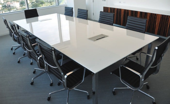 Arnold Back-painted Glass Top Conference Table