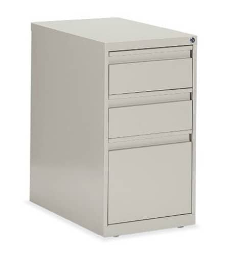 Box/Box/File Pedestal 15w x 23d x 27.125h Light grey Office Pedestals