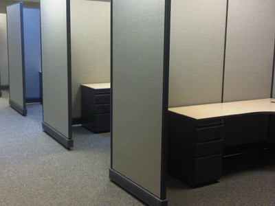 "cubicles, 80"" wall cubicles, Boston, MA"