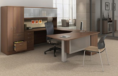 Global office collection price range $3500-$5000 premium laminate executive desks