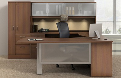 Global office collection price range $3500-$5000 wood finishes hutches contemporary