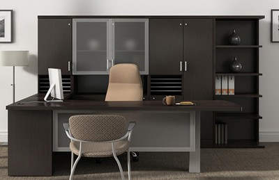 Global office collection price range $3500-$5000 bookcases contemporary office
