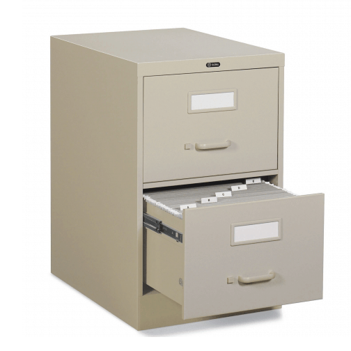25D 2 Drawer Vertical File - Letter, File Cabinet