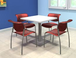 Office Cafeterias Collaborative Meeting Areas Cafeteria chairs tall stools and cafeteria seating Hi-Top table café