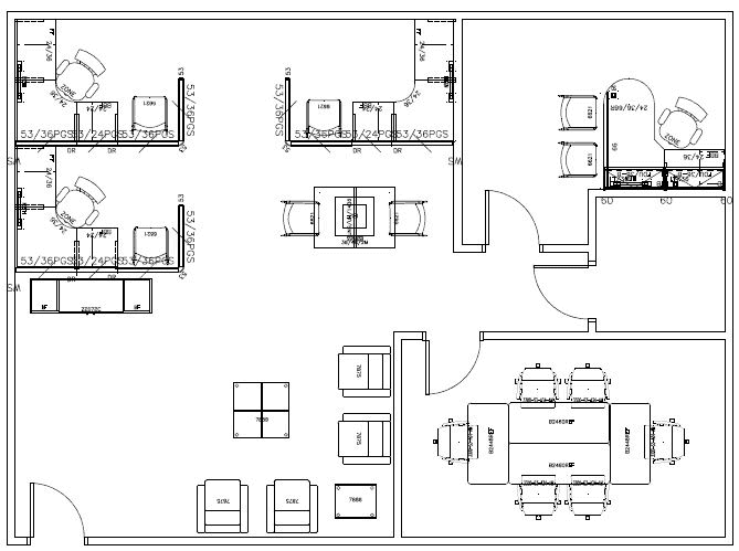 Office Design 2D Floor Plan
