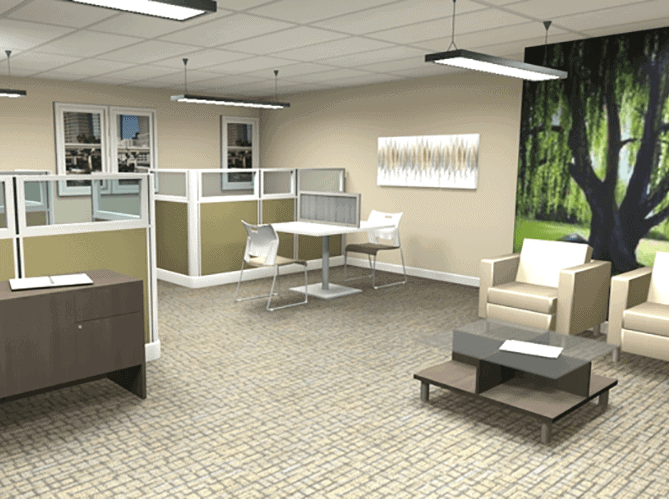 Office Design 3D Floor Plan