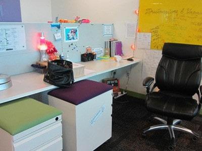 Open style desking