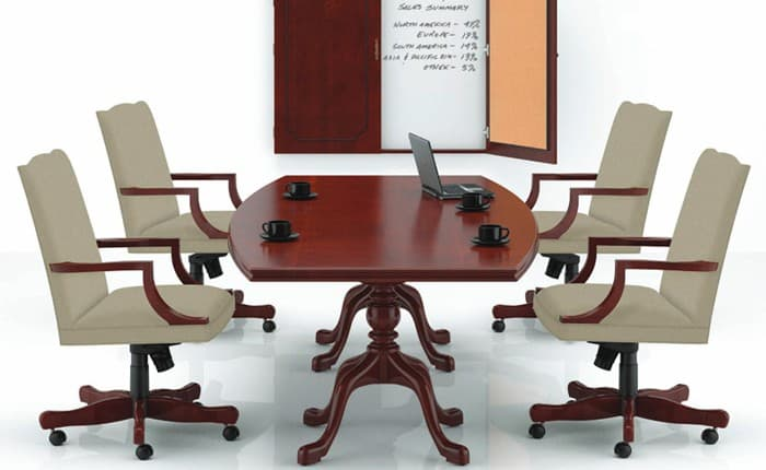 "Paoli Boat-shape 48""x96"" Conference Table"