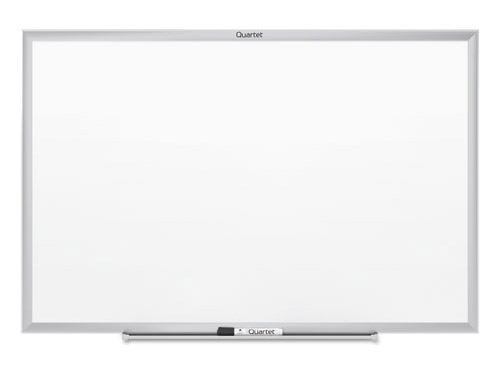Classic Magnetic Melamine Whiteboard with silver frame