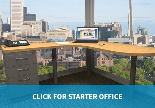 Starter Office category private office and desk furniture economical modular-style budget