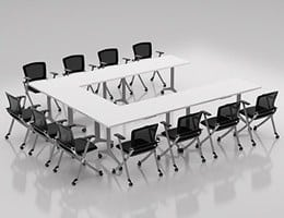 Training Rooms Collaborative Meeting Areas multi-purpose space and Training room desks and tables