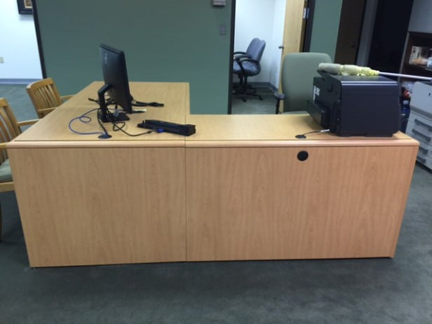 Used Desk with Return