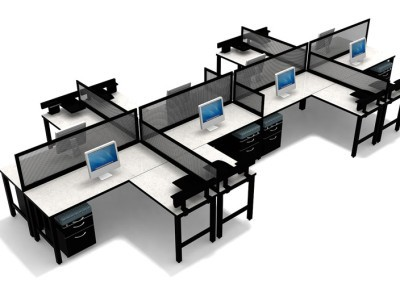 8 Person Desking Unit