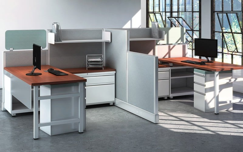 Open Style Cubicle Workstations
