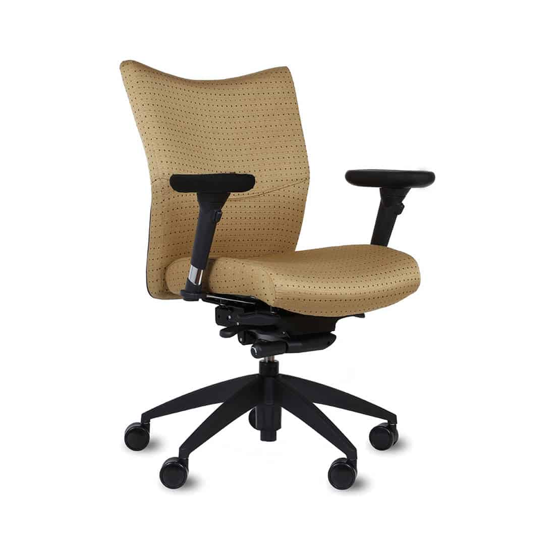 9 to 5 Bristol Mid Back Fully Upholstered Task Chair 6-way adjustable arms