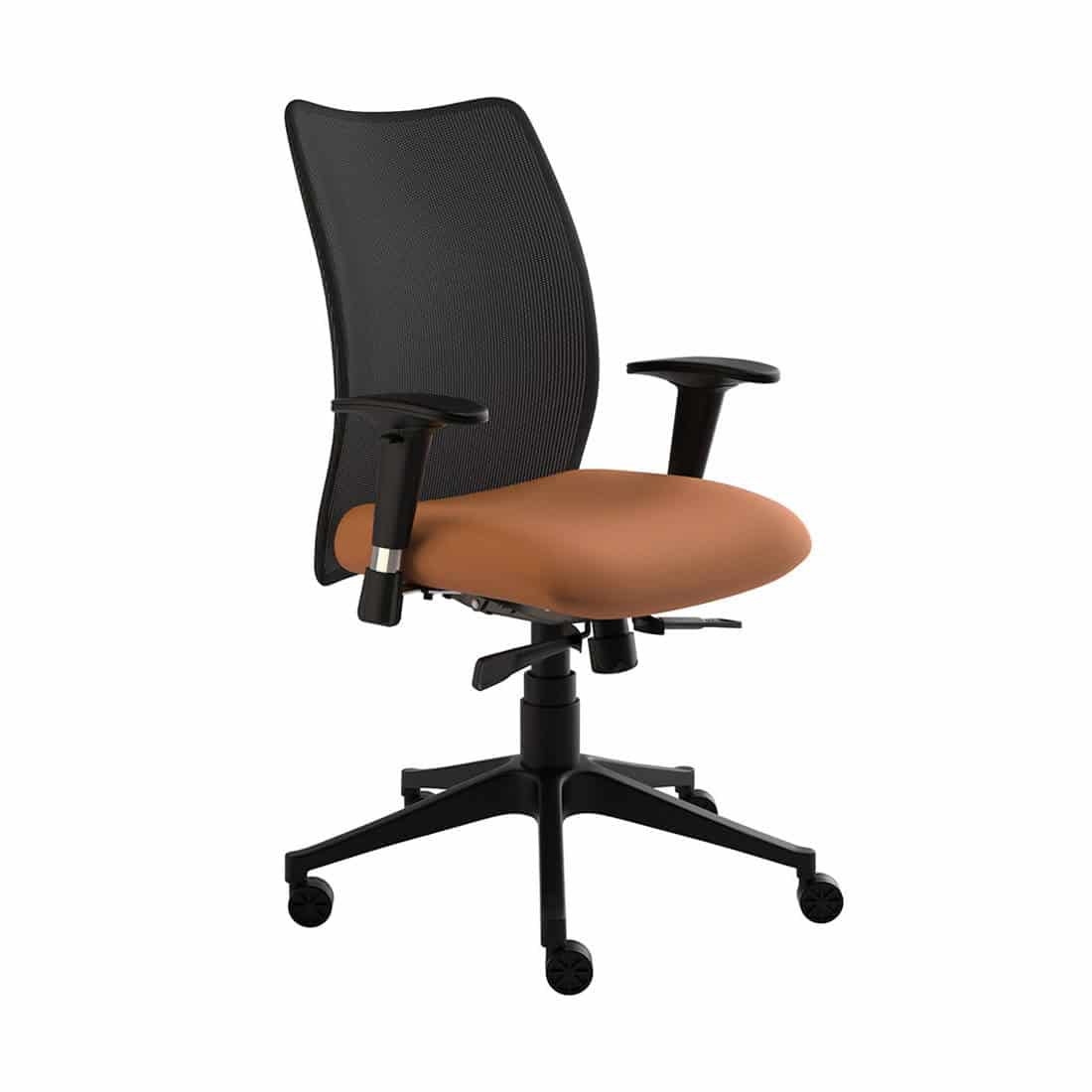 Compel Argos Black Mesh Mid Back Task Chair with Height Adjustable Arms