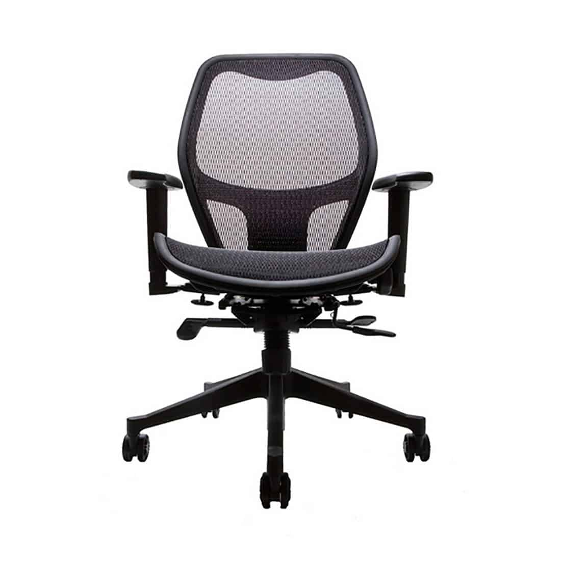 Compel Net Black Mesh Back and Seat Task Chair with 3-way adjustable arms CAL 133 certified