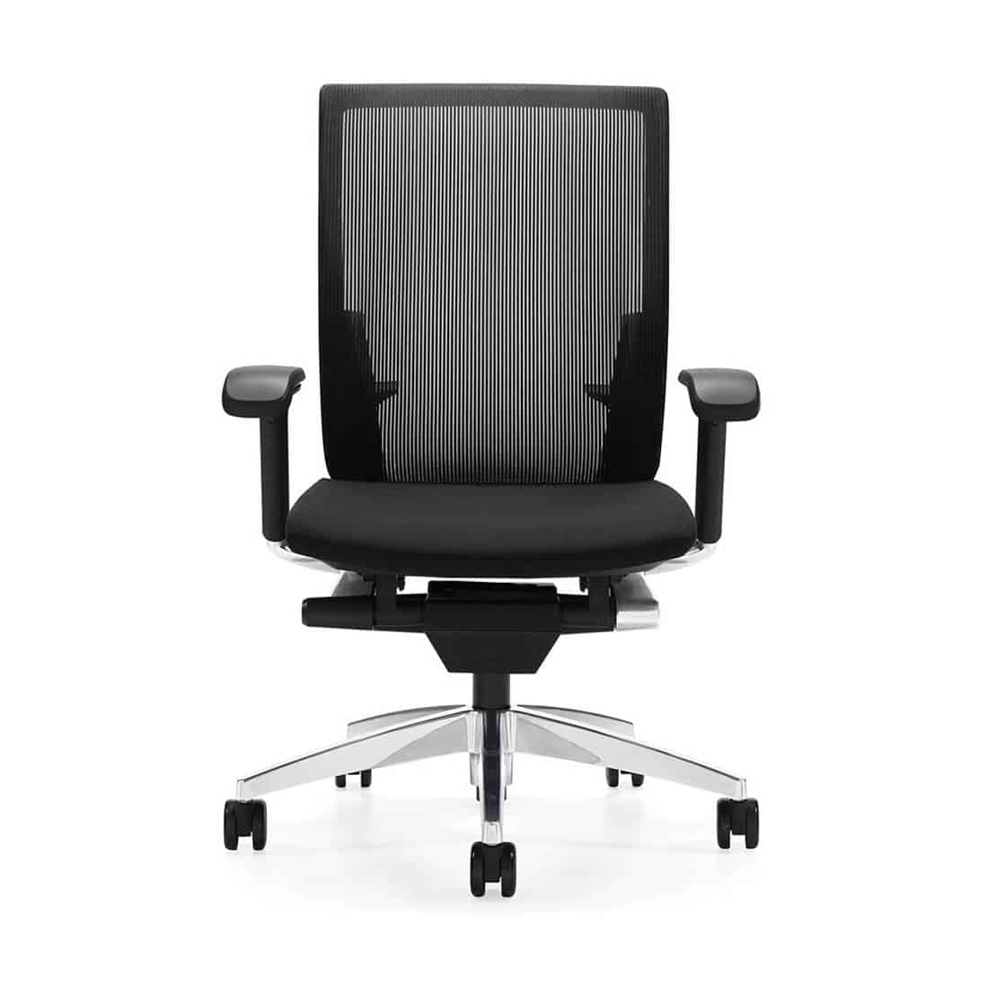 Global G20 High Back Synchro Tilter Mesh Office Chair waterfall edge