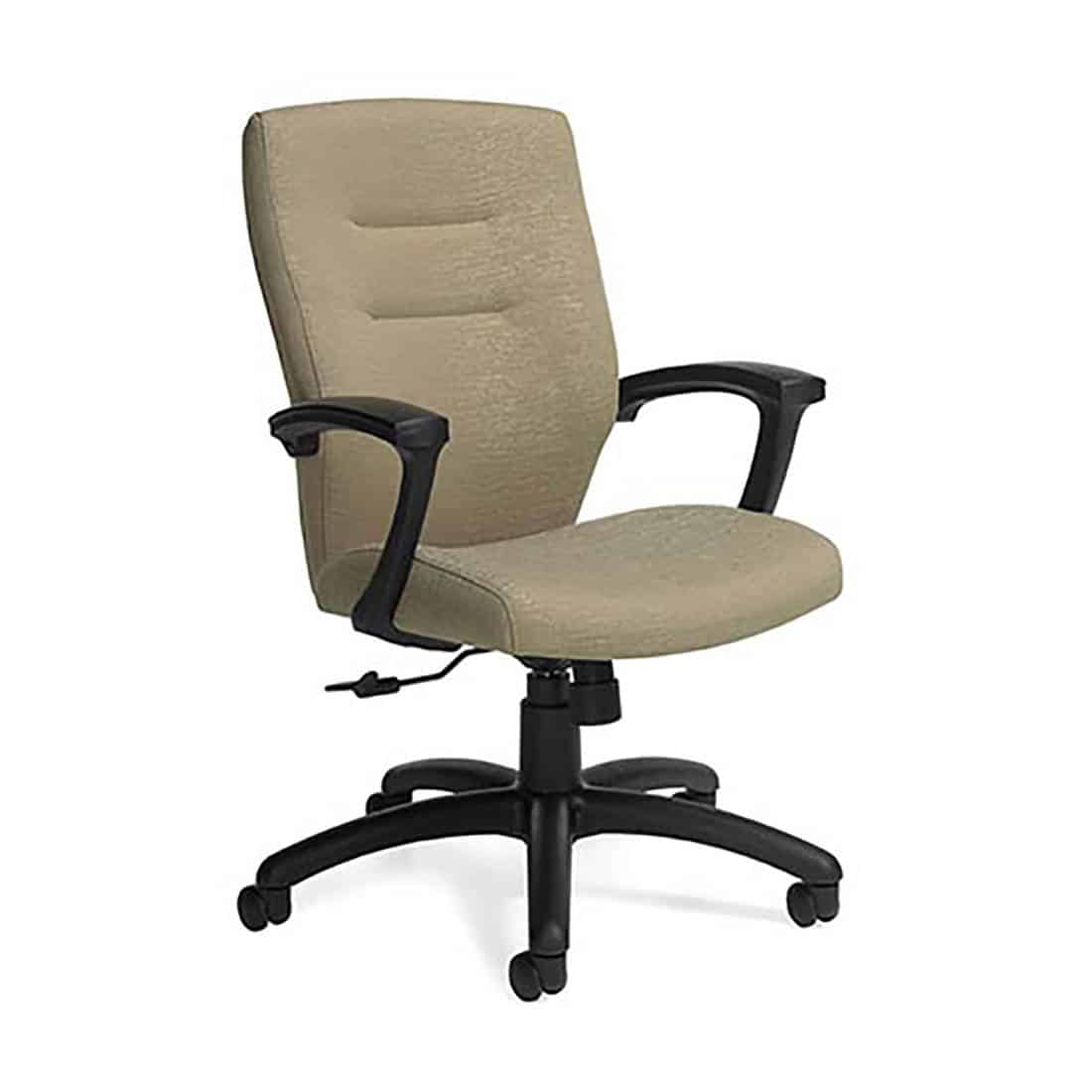 Global Synopsis Medium Back Tilter Conference Room Chair Curved upholstered back with double stitch detailing