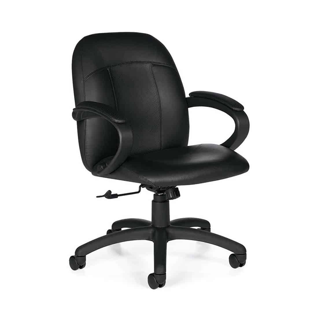 Global Tamiri Low Back Conference Room Chair Upholstered mock leather