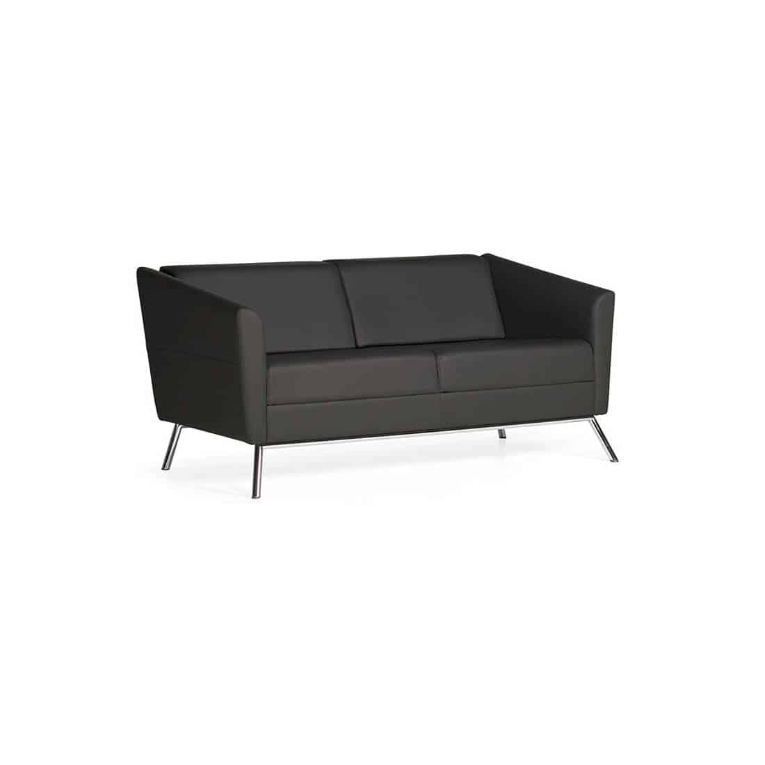 Global Wind 2 Seater Two Seat Sofa Reception Seating 29 x 54.5 x 28.5 in Leather/Mock leather