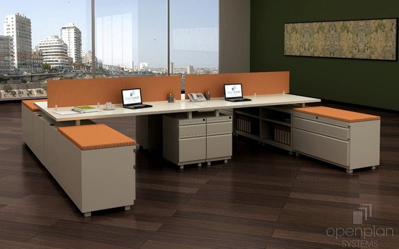 4 Person Open Workstations