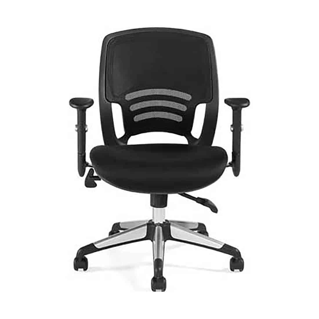 Global OTG 11686B Mesh Back Managers Chair with Adjustable Arms