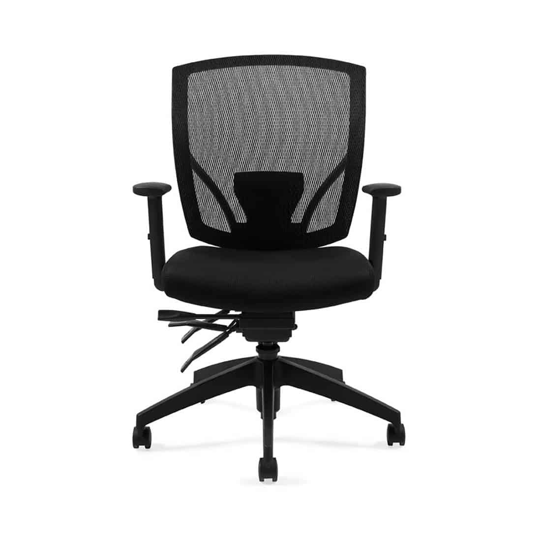 Global OTG 2803 Mesh Executive Chair with Adjustable Arms Infinite seat lock with tilt tension adjustment