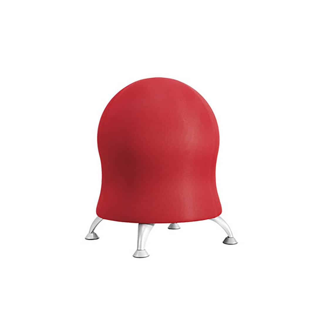Zenergy Ball Chair fabric ball seat 23 in crimson light assembly guest chairs side seating