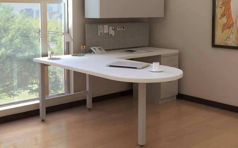 D-top L-shape Desk 1