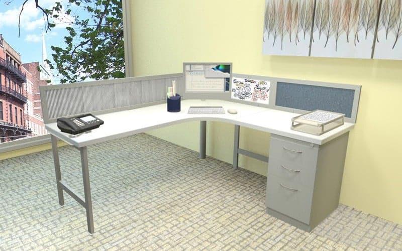 Simple 6'x5'5″ Desk 1