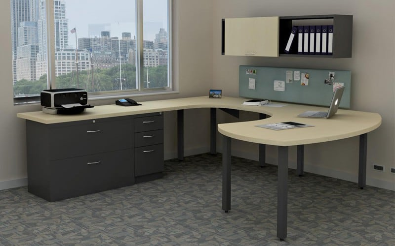 U-Shaped Sweep Desk Private Office Furniture
