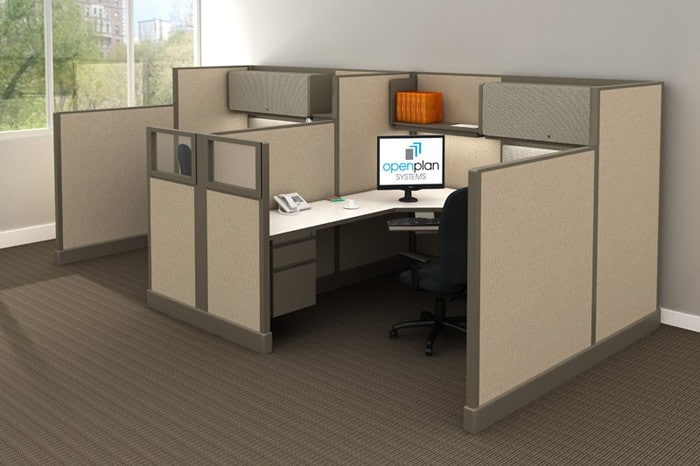 High-Low Cubicle Style Workstations
