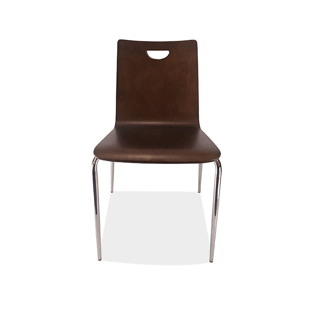 COE Bleecker Cafeteria Chair Wooden back with hand hole armless